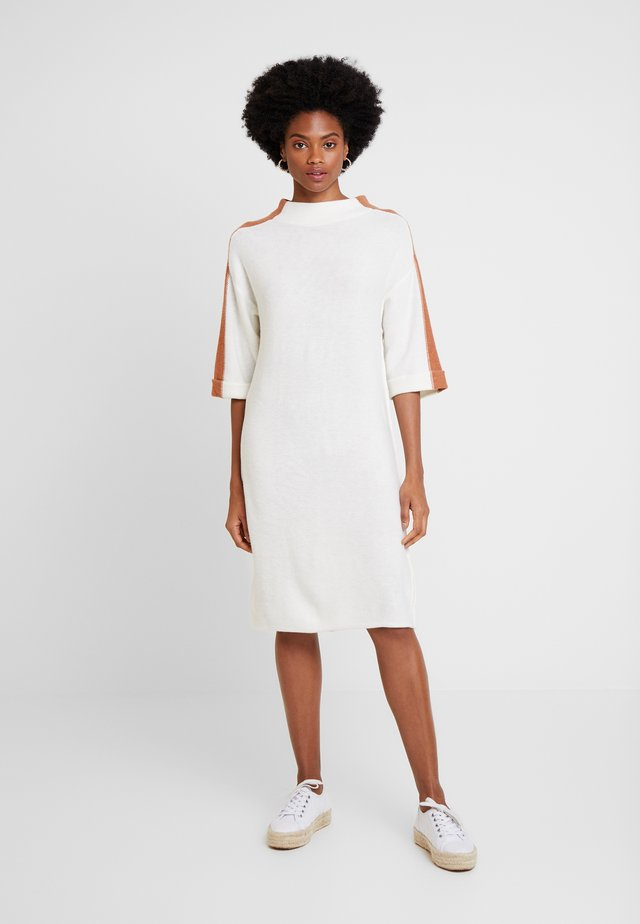 GABRIELLA DRESS - Jumper dress - off white/camel