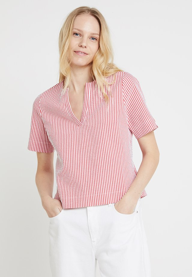 Blouse - stripe red
