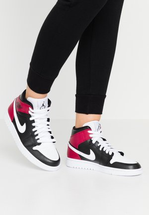 AIR 1 MID  - Sneakersy wysokie - black/white/noble red