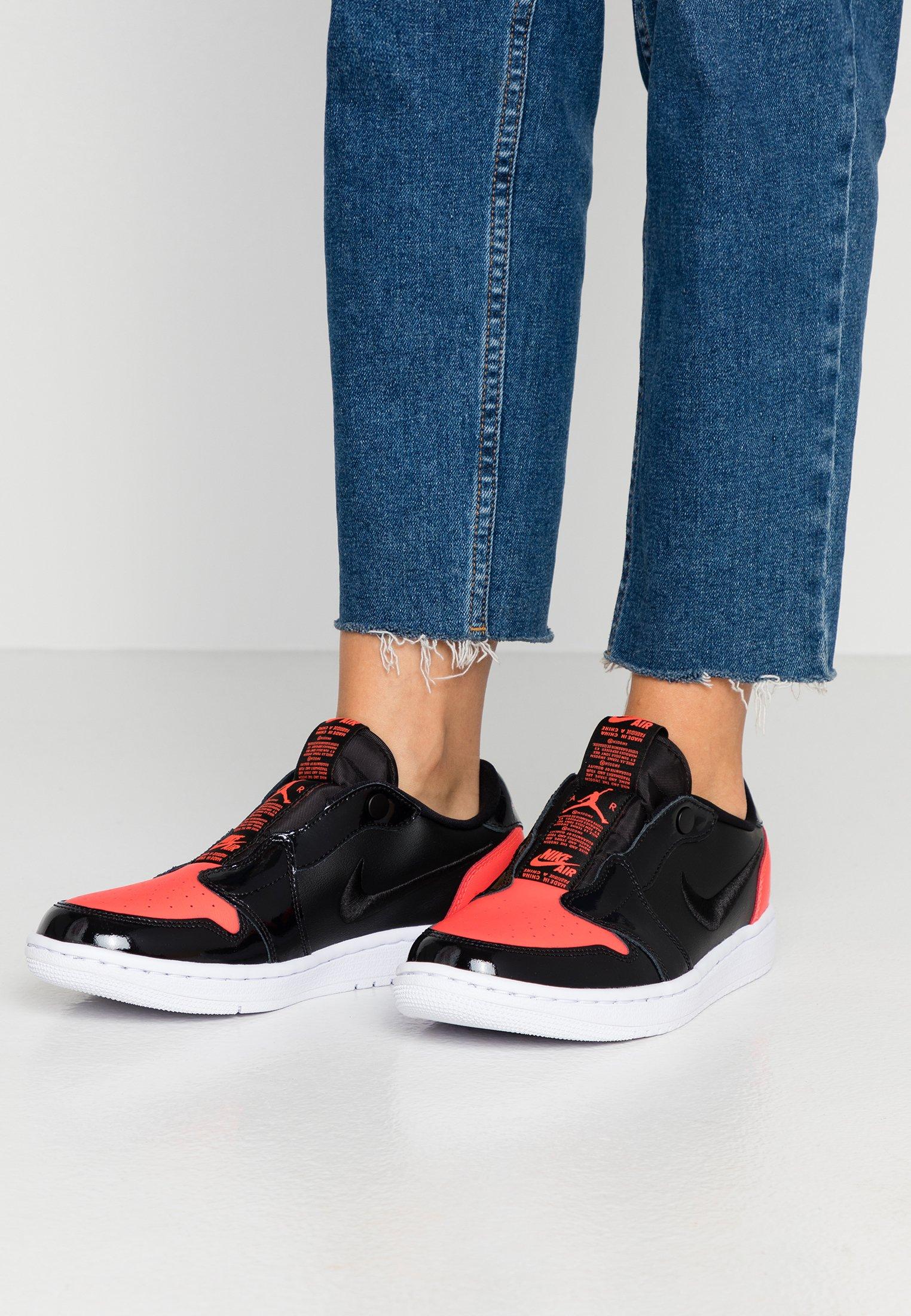 Jordan AIR 1- Scarpe senza lacci bright crimson/black/white