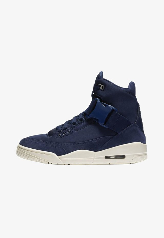 Sneakers hoog - midnight navy/light cream