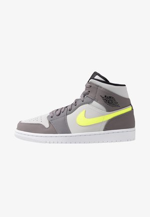 AIR JORDAN 1 MID - High-top trainers - gunsmoke/volt/neutral grey/white/black