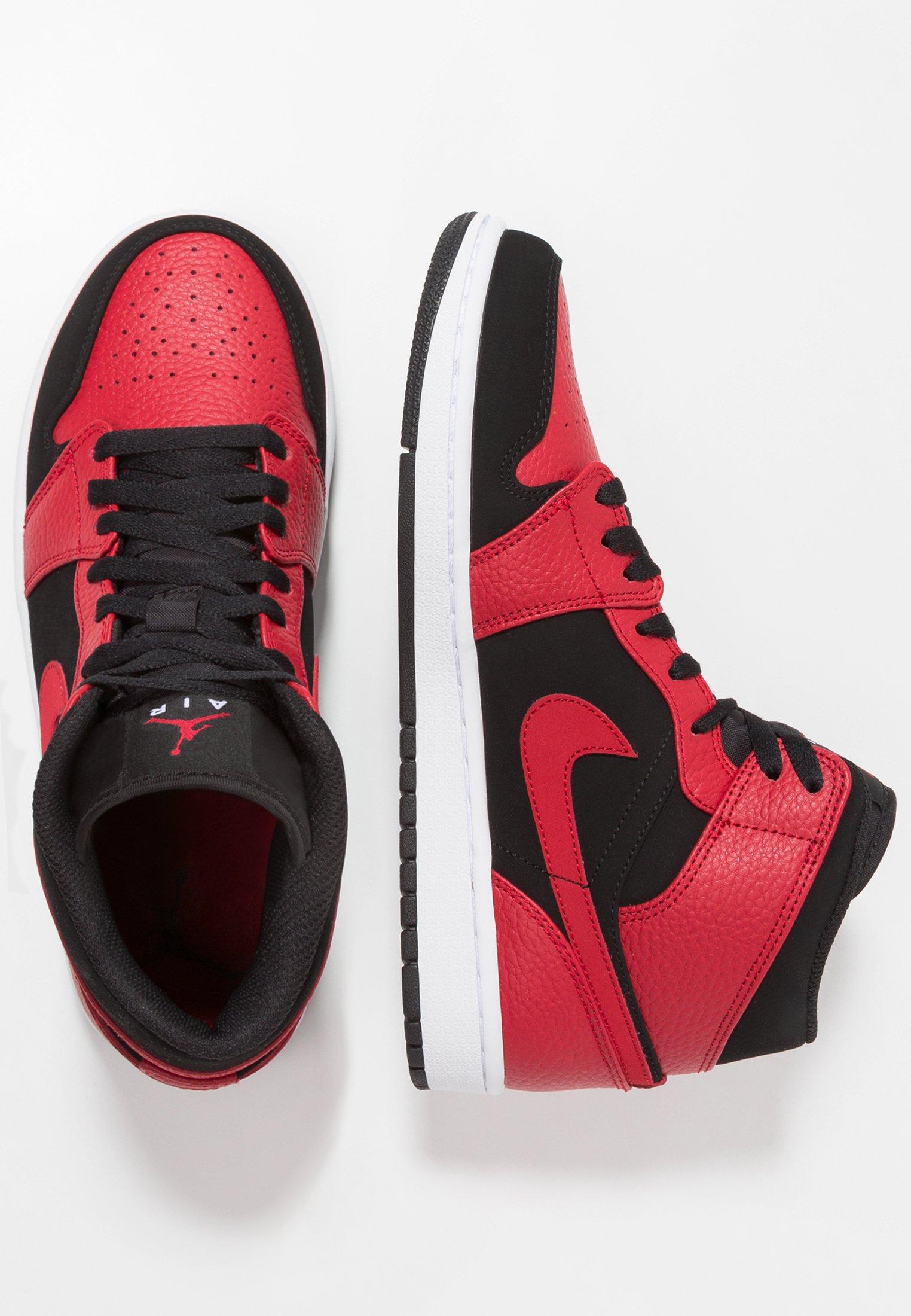AIR 1 MID - Sneakers hoog - black/white/gym red