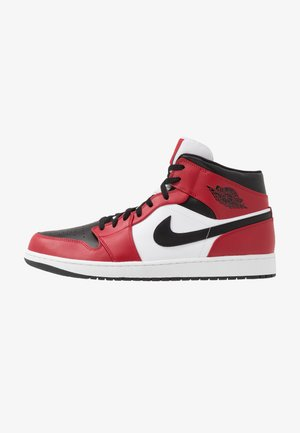 AIR 1 MID - Korkeavartiset tennarit - black/gym red