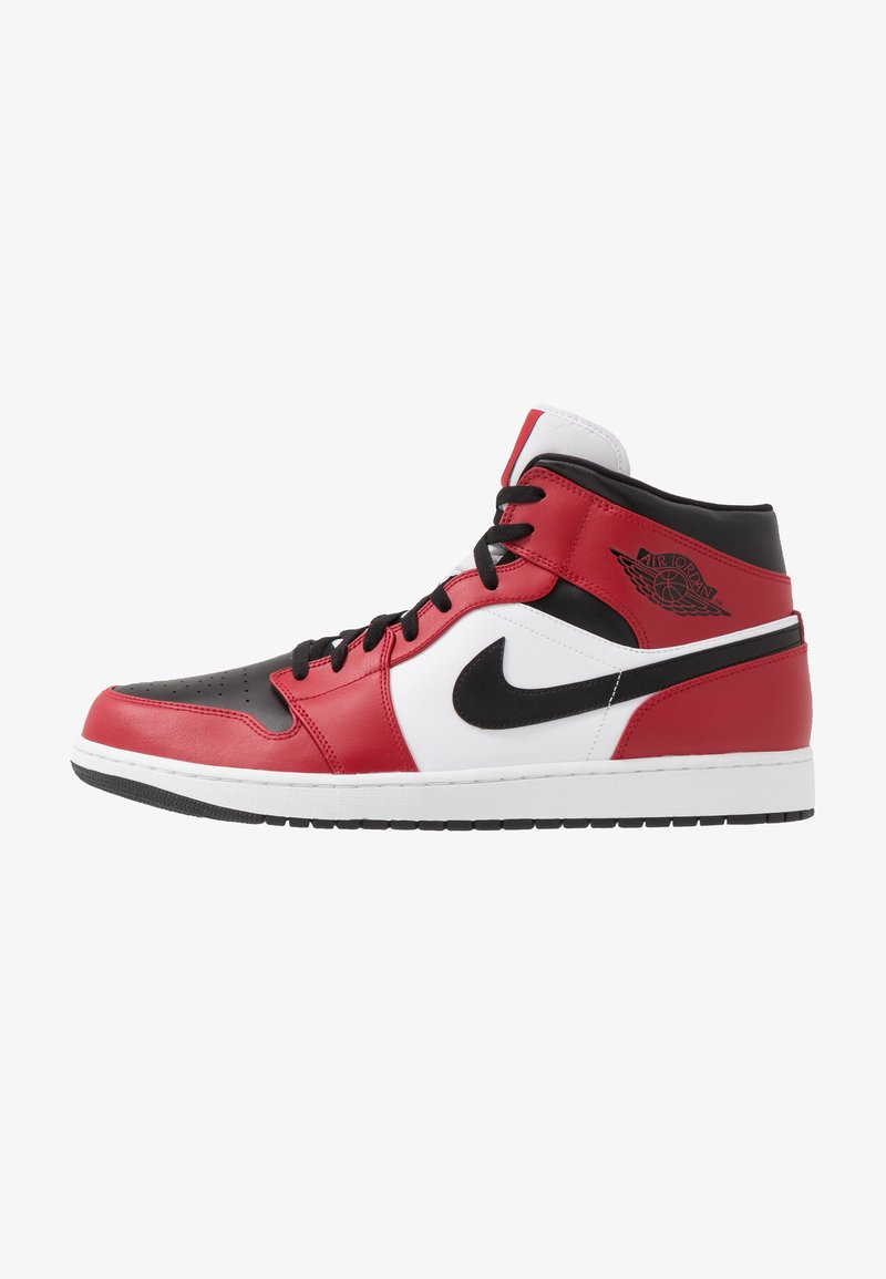 Jordan - AIR 1 MID - Korkeavartiset tennarit - black/gym red