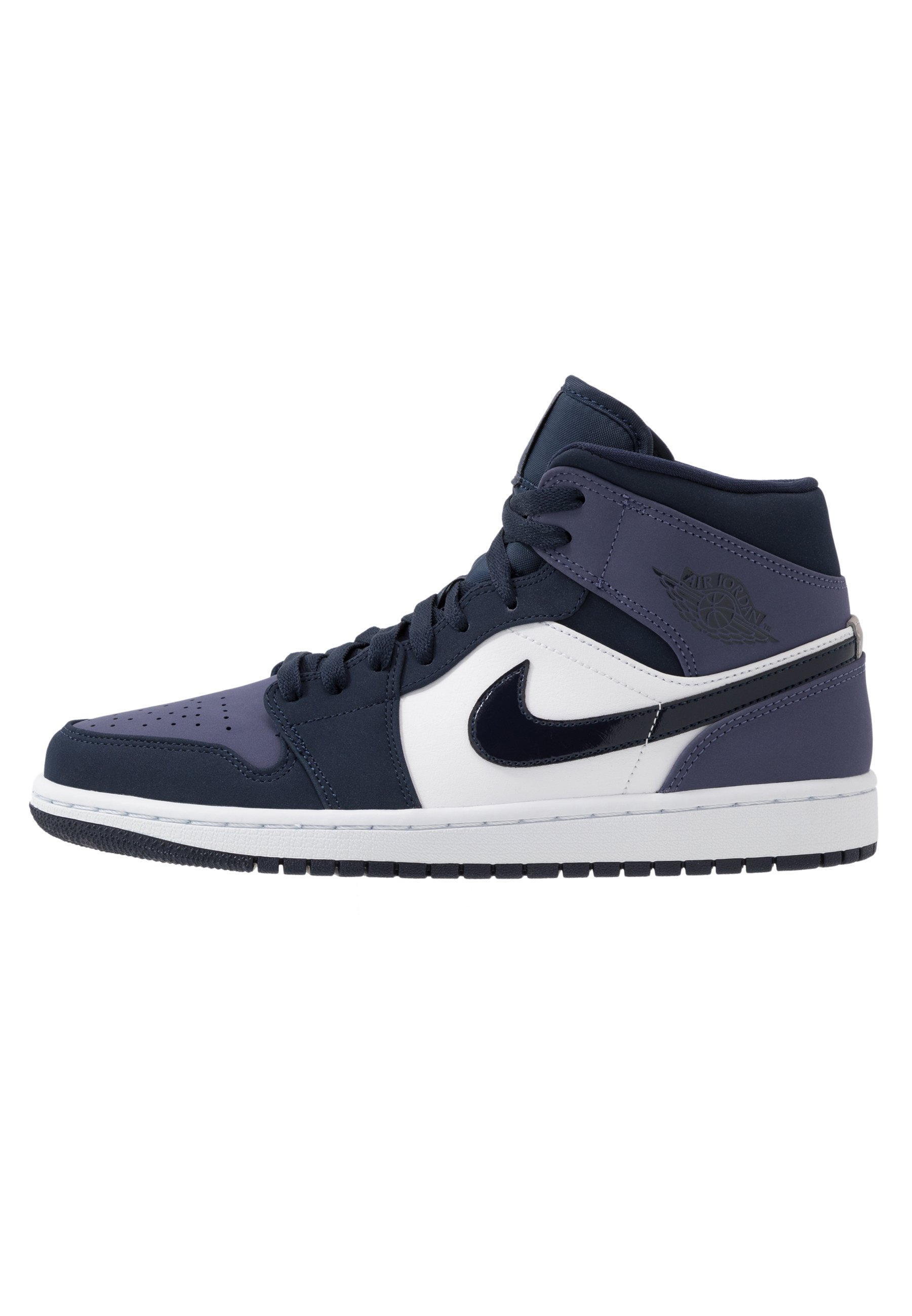 AIR JORDAN 1 MID - High-top trainers - obsidian/sanded purple/white