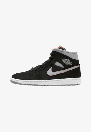 AIR 1 MID - Sneakers alte - black/particle grey/white/gym red