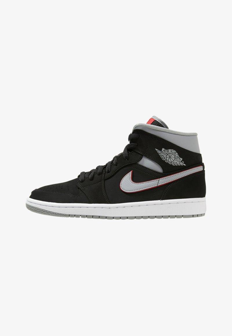 Jordan - AIR JORDAN 1 MID - Sneakers hoog - black/particle grey/white/gym red
