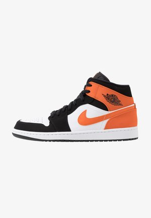 AIR JORDAN 1 MID - Höga sneakers - black/starfish/white