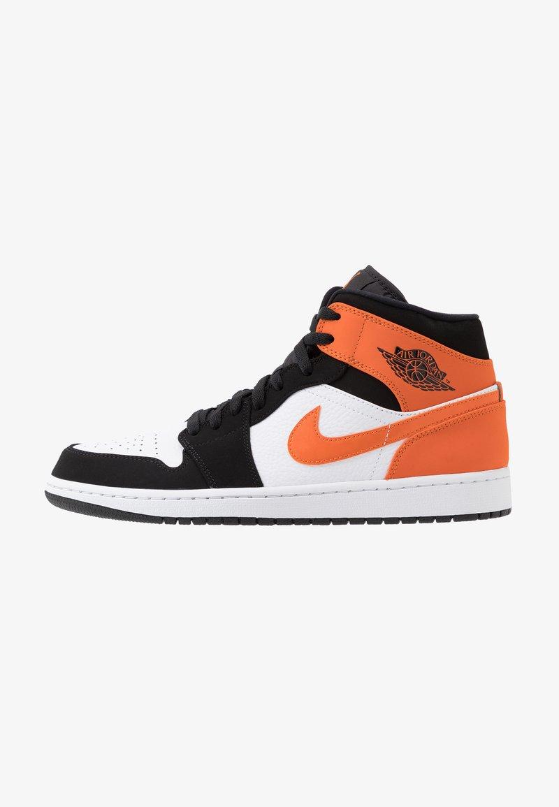 Jordan - AIR JORDAN 1 MID - Sneakersy wysokie - black/starfish/white