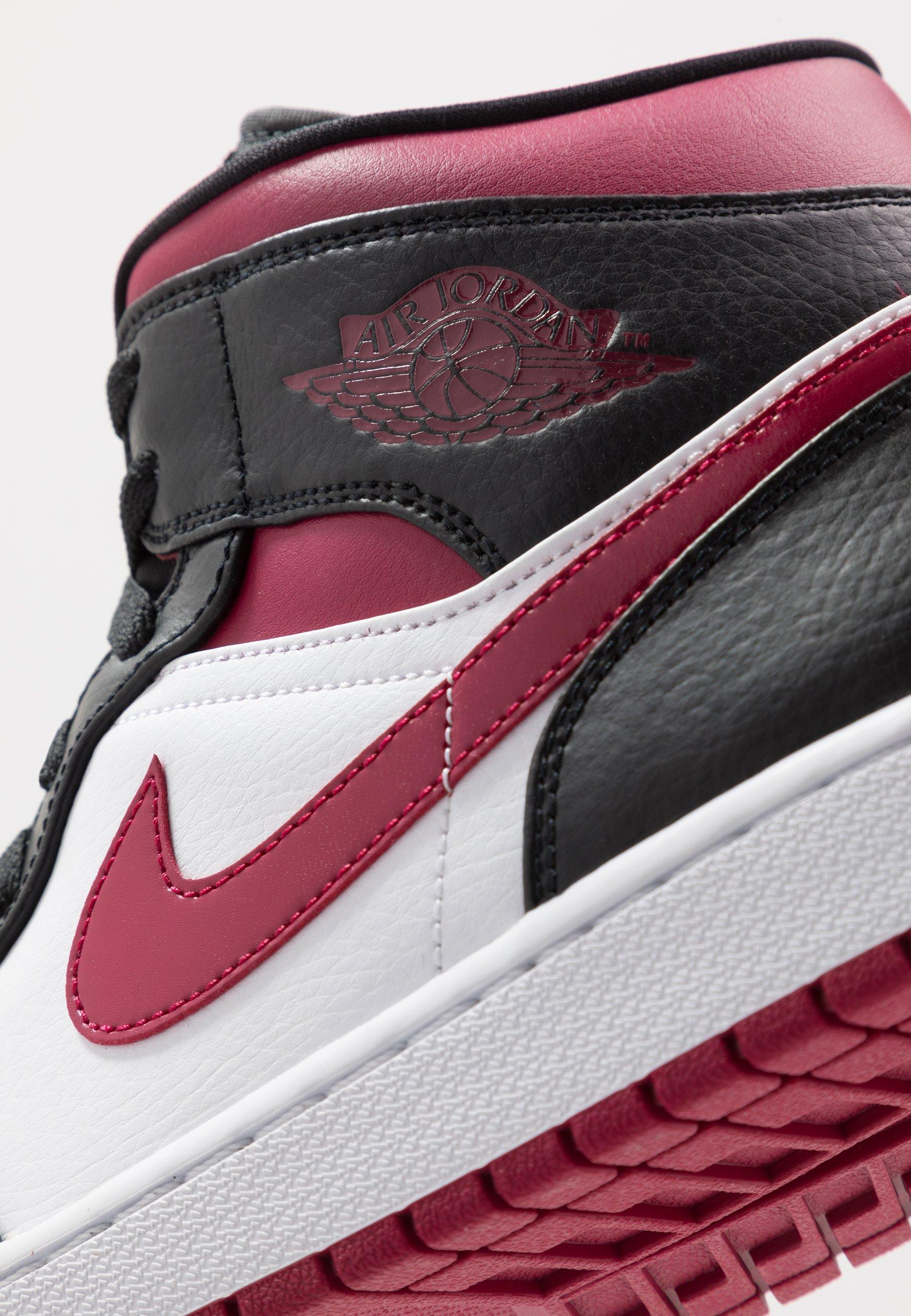 AIR 1 MID Höga sneakers blacknoble redwhite
