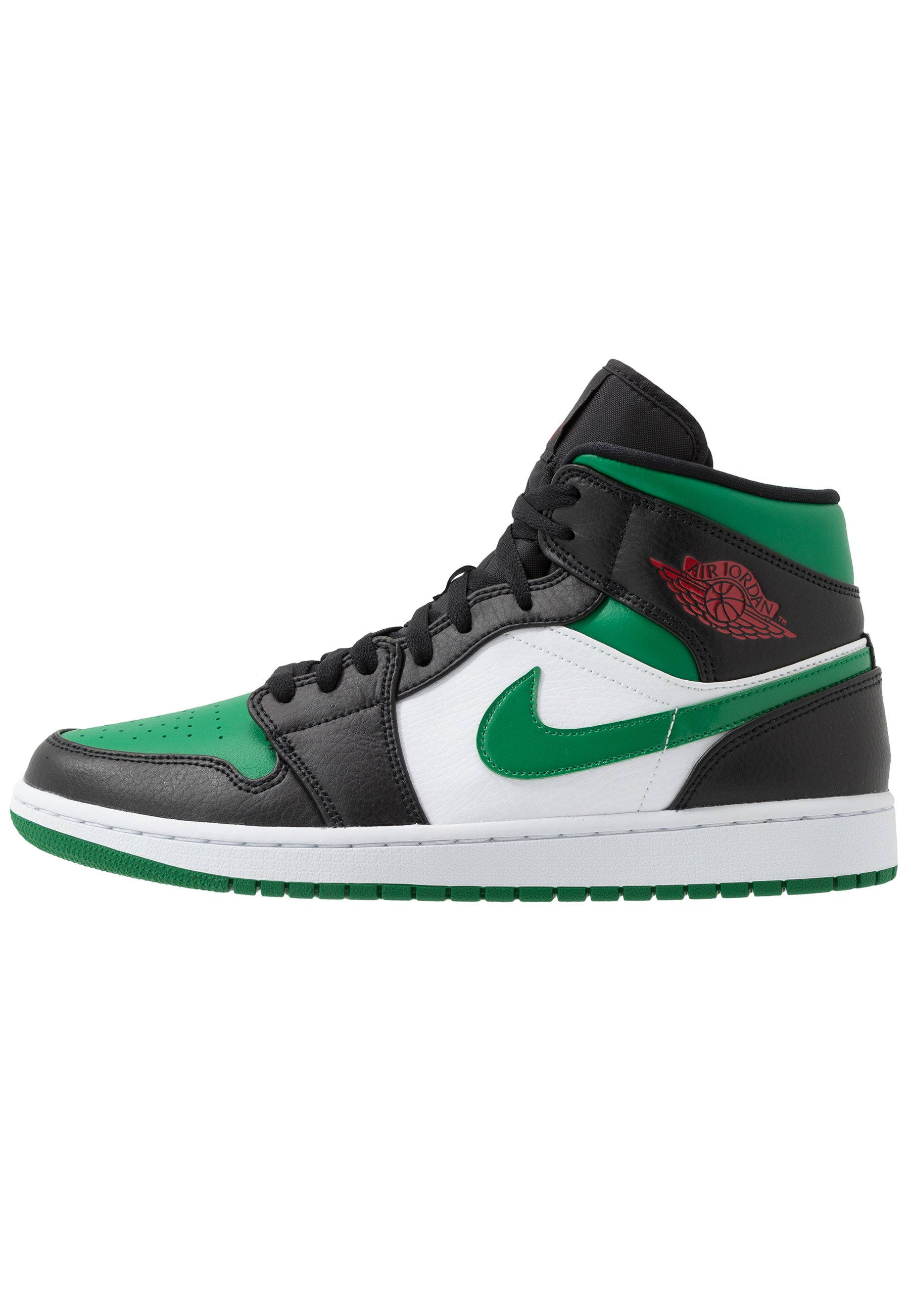 AIR 1 MID - Sneakers hoog - black/pine green/white/gym red