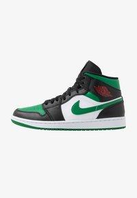 Jordan - AIR JORDAN 1 MID - Vysoké tenisky - black/pine green/white/gym red - 0