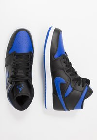 Jordan - AIR JORDAN 1 MID - Sneakers hoog - black/hyper royal/white - 1