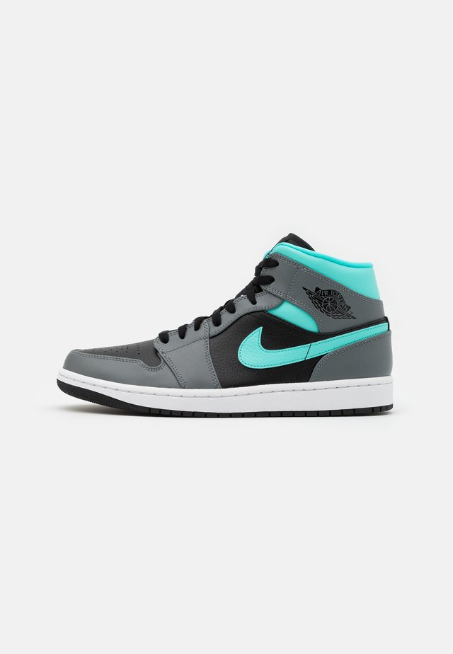 AIR 1 MID - Sneaker high - black/aurora green/smoke grey