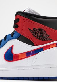 Jordan - AIR 1 MID SE - High-top trainers - white/university red/rush blue/black - 5