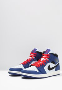 Jordan - AIR 1 MID SE - Höga sneakers - deep royal blue/black/half blue/universal red - 2
