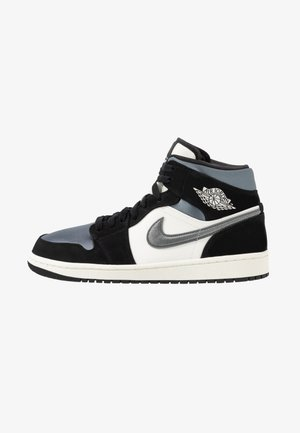 AIR 1 MID SE - Sneakersy wysokie - black/smoke grey/sail