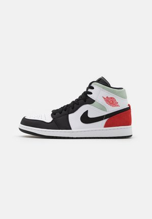 AIR 1 MID SE - Höga sneakers - black/red/mint