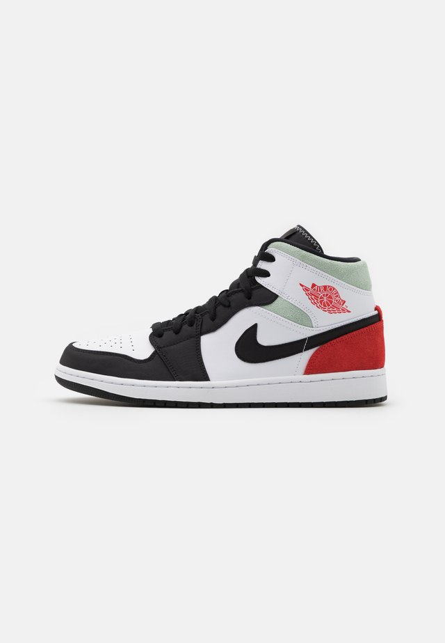 AIR 1 MID SE - Sneakersy wysokie - black/red/mint