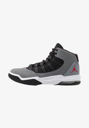 MAX AURA - Zapatillas altas - cool grey/gym red/black/white