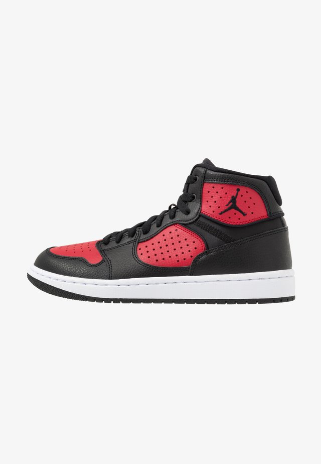 JORDAN ACCESS HERRENSCHUH - Korkeavartiset tennarit - black/gym red/white