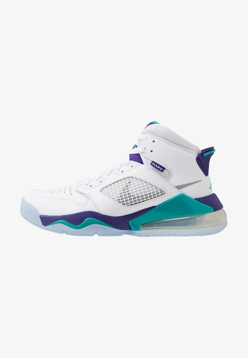 Jordan - MARS 270 - High-top trainers - white/reflect silver/new emerald/grape ice
