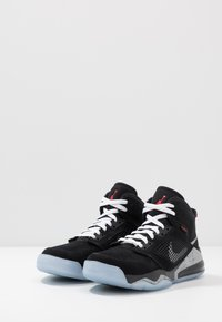 Jordan - MARS 270 - Korkeavartiset tennarit - black/reflect silver/fire red/white - 2