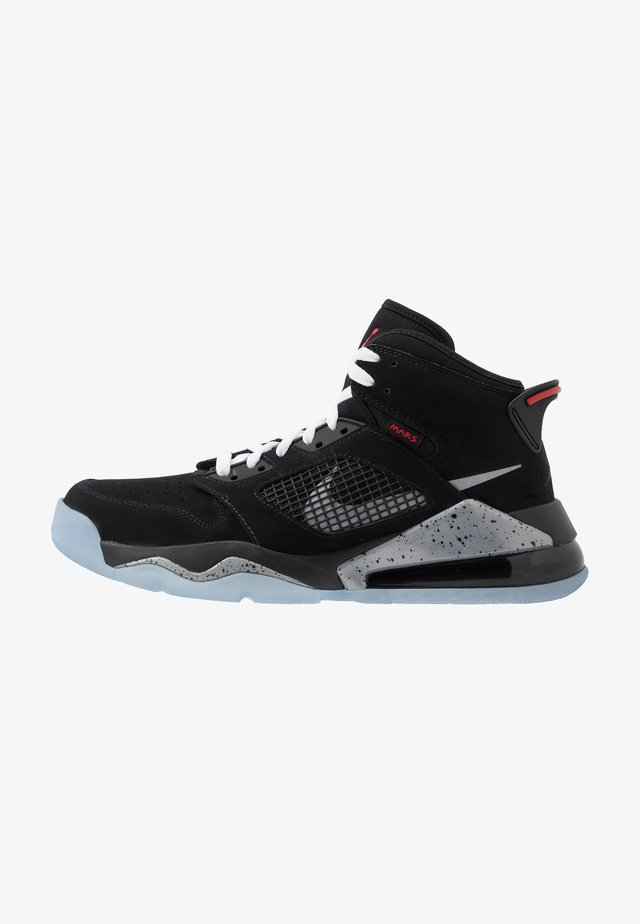 MARS 270 - Sneaker high - black/reflect silver/fire red/white