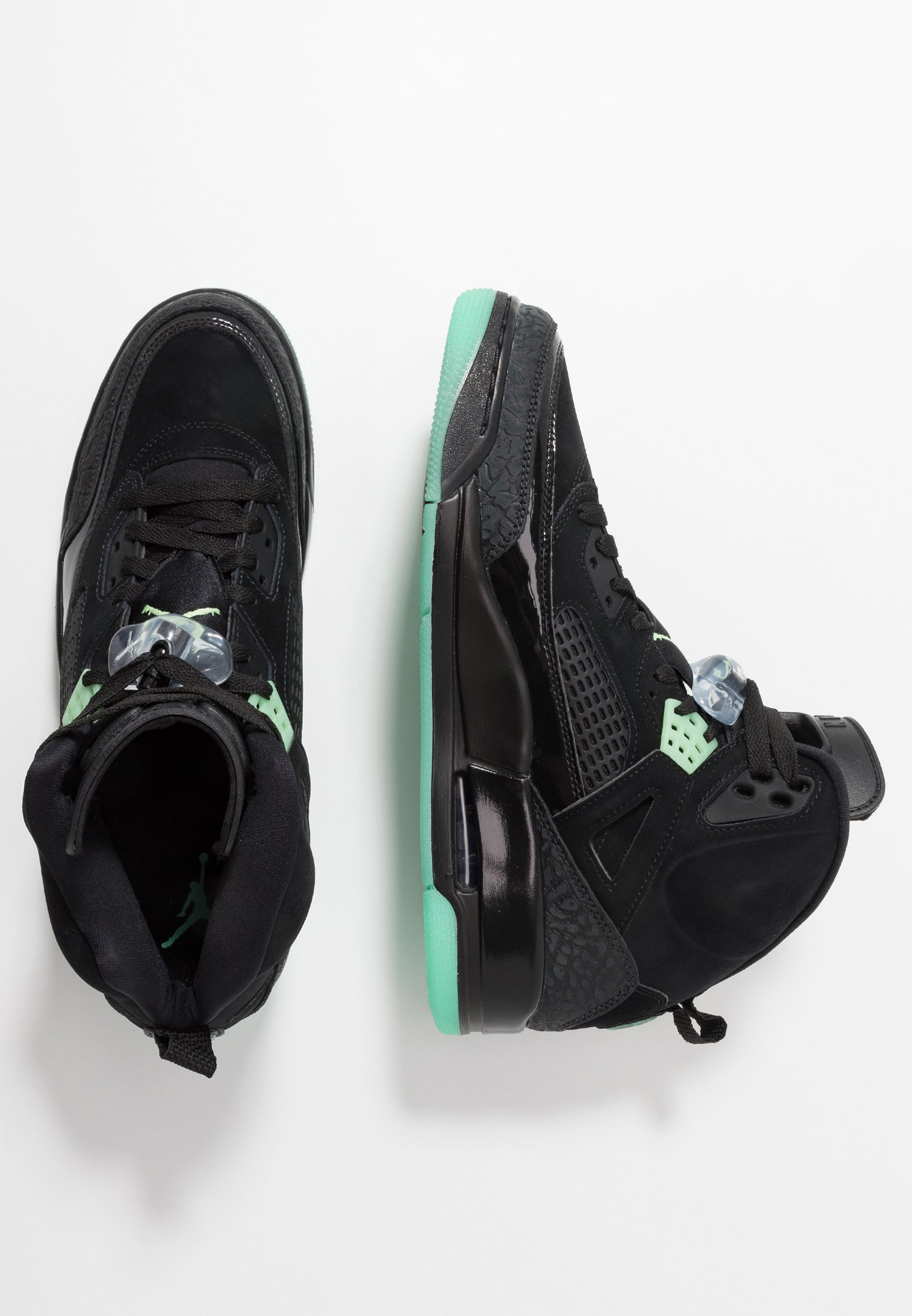 Jordan SPIZIKE Skateschoenen blackgreen glowanthracite
