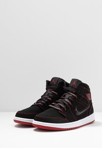 Jordan - AIR JORDAN 1 MID  - Zapatillas altas - black/gym red/white - 2
