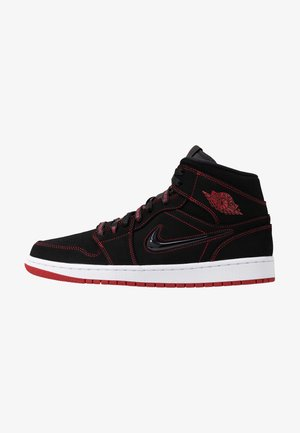 AIR JORDAN 1 MID  - Korkeavartiset tennarit - black/gym red/white
