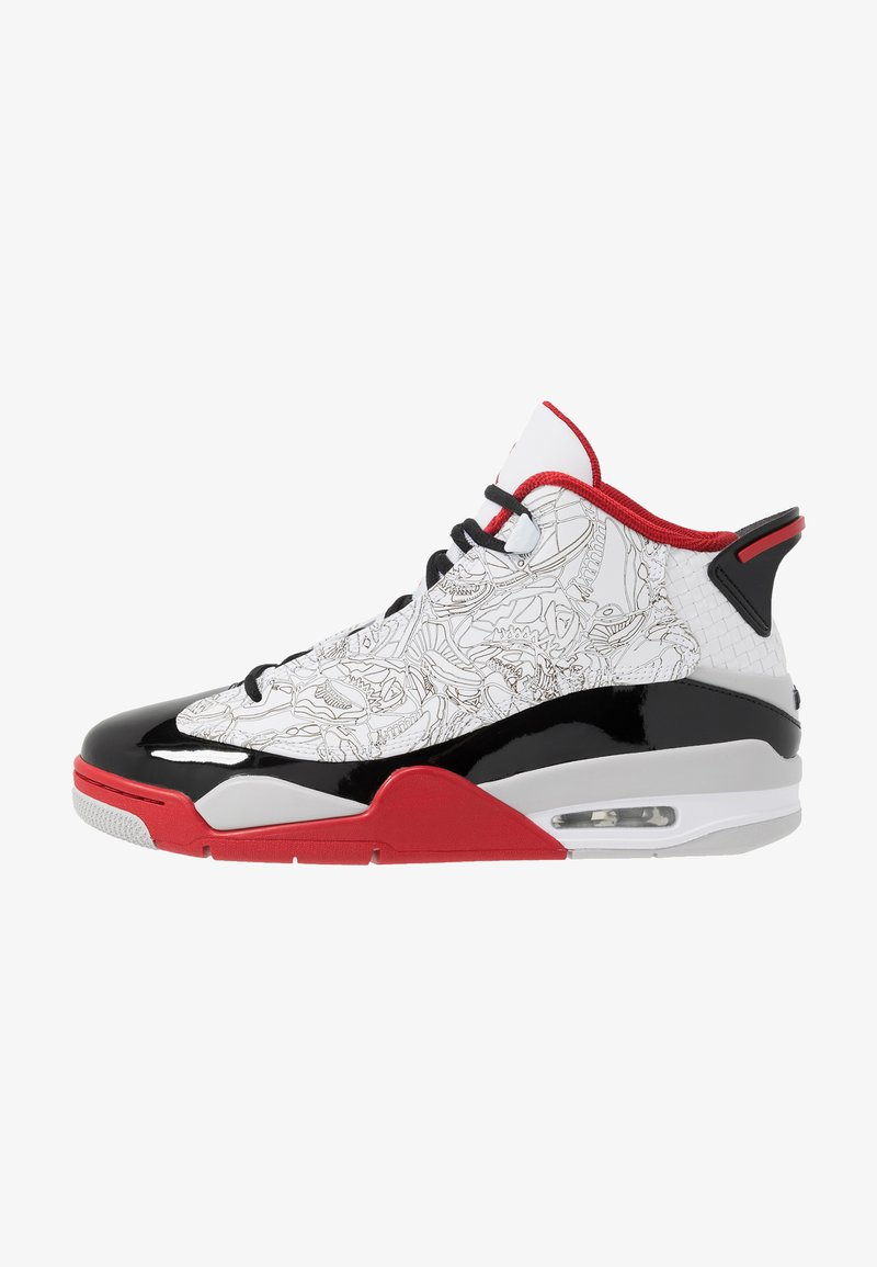Jordan - AIR DUB  - Korkeavartiset tennarit - white/black/varsity red/neutral grey
