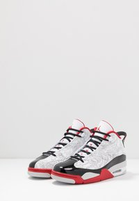 Jordan - AIR DUB  - Korkeavartiset tennarit - white/black/varsity red/neutral grey - 2