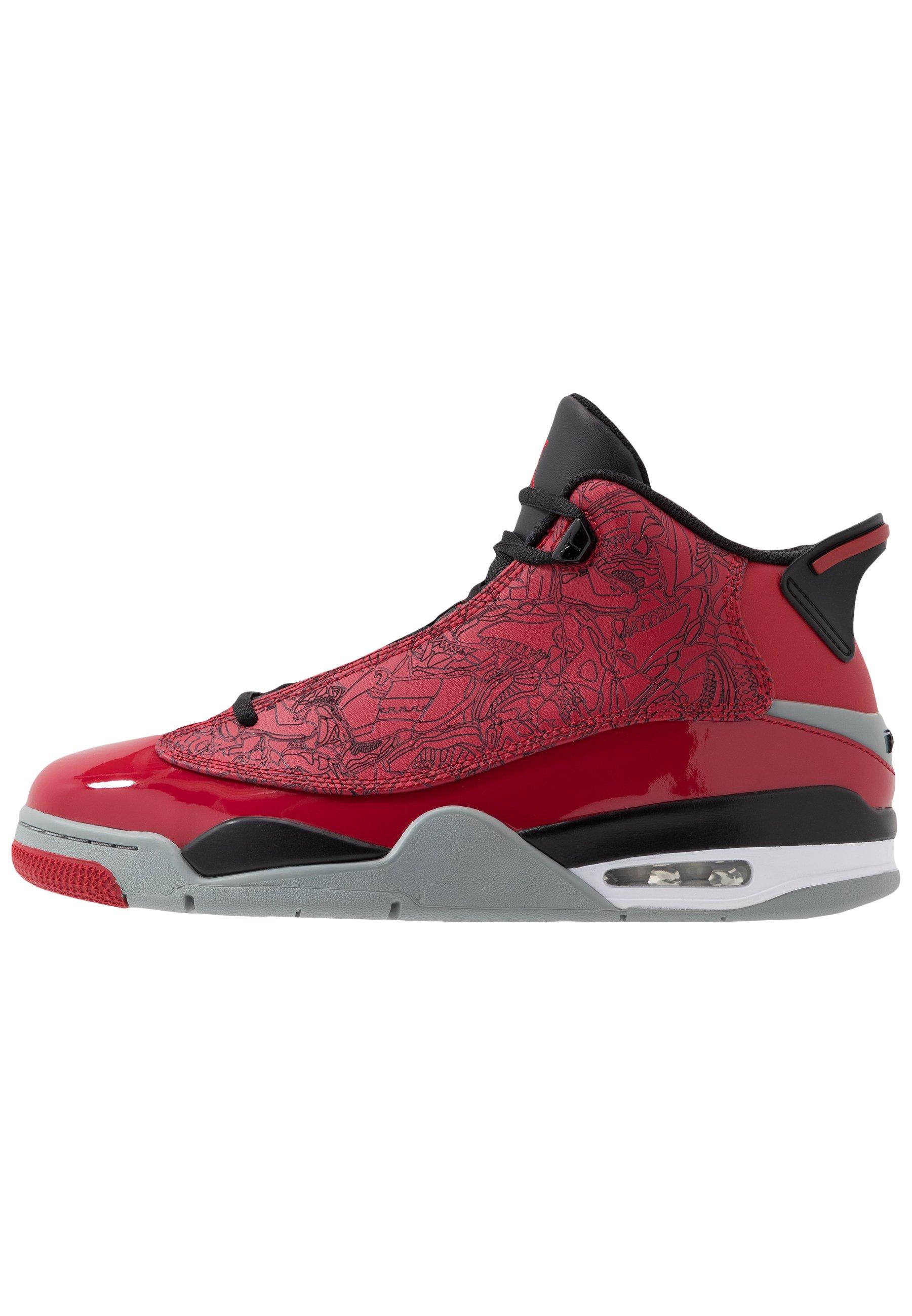 Jordan AIR DUB Höga sneakers gym redblackparticle grey