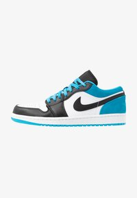black/laser blue/white