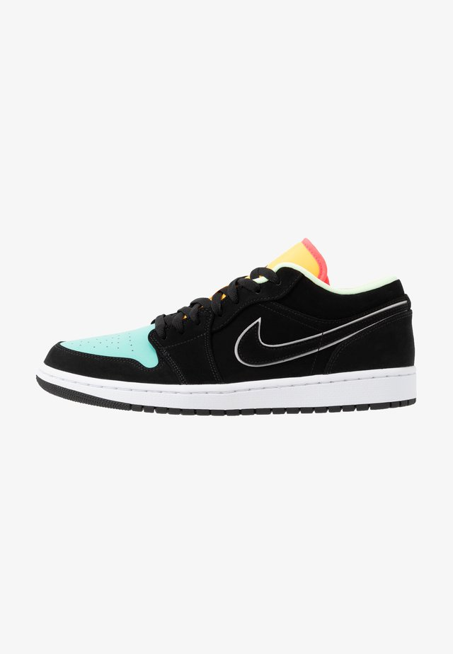 AIR 1 SE - Baskets basses - black/aurora green/laser orange/barely volt