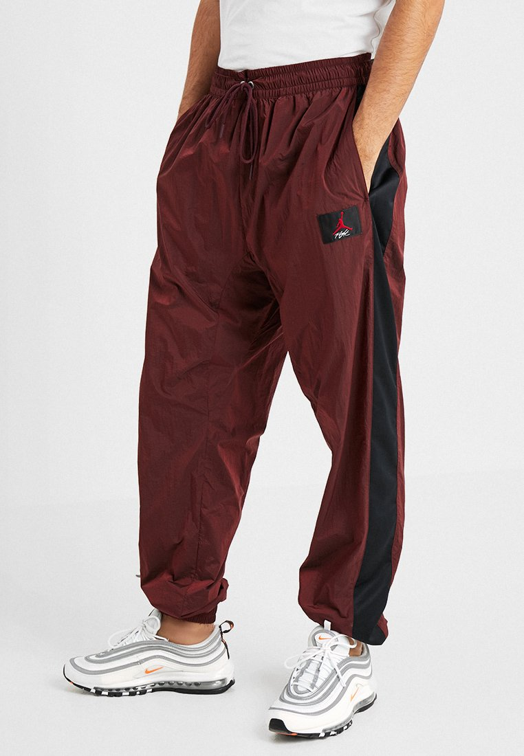 Jordan - FLIGHT WARM UP PANT - Tracksuit bottoms - gym red/black