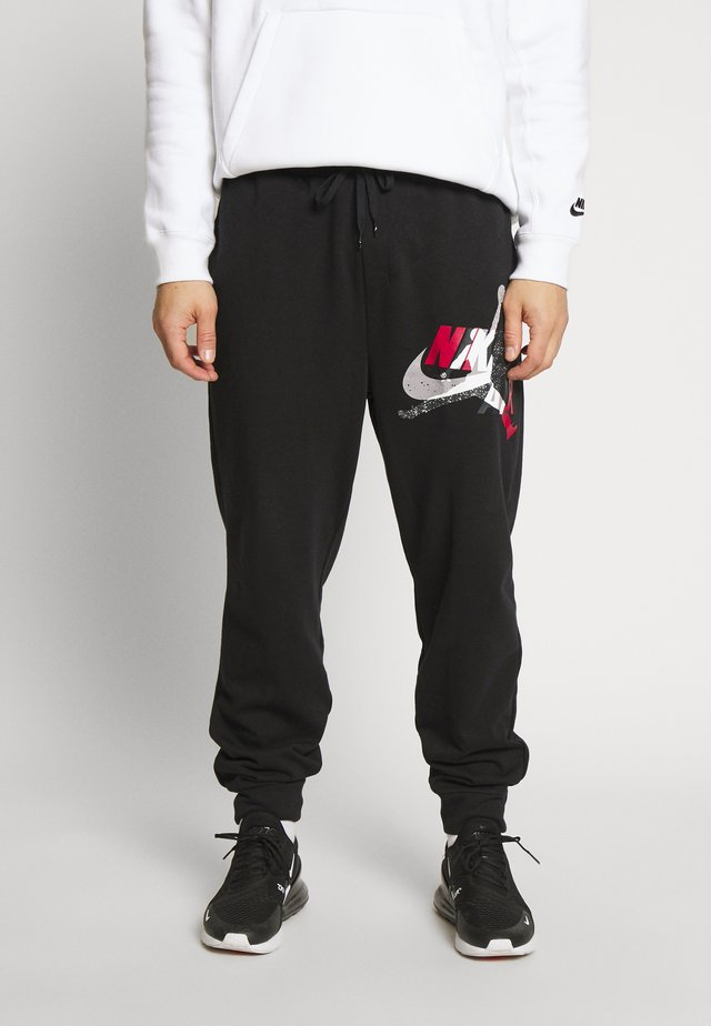M J JUMPMAN CLSCS LTWT PANT - Trainingsbroek - black/gym red/white