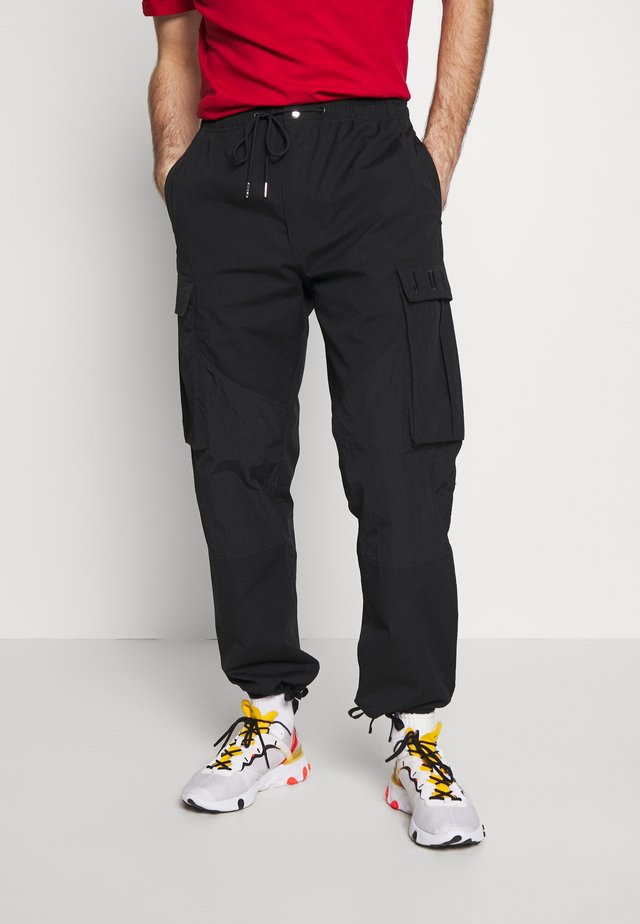 PANT - Cargo trousers - black