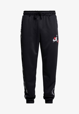 TRICOT PANT - Joggebukse - black/gym red/white