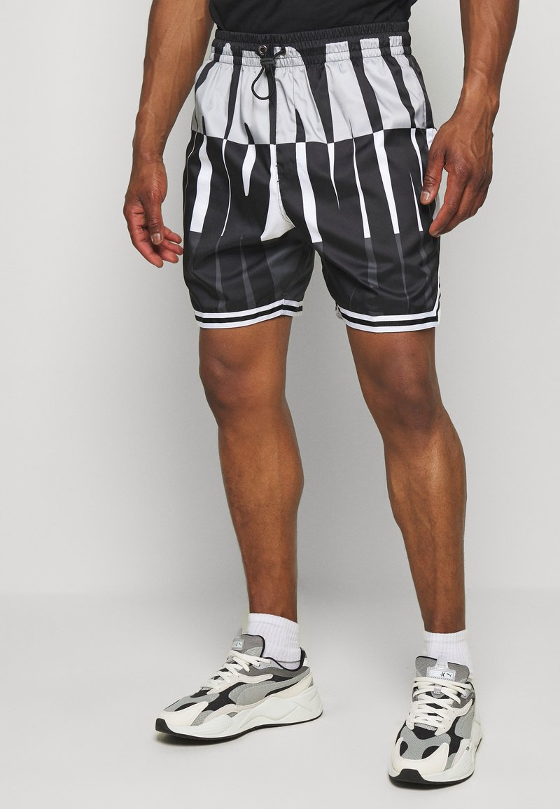 Jordan - WINGS  POOLSIDE - Shorts - white/black/dark smoke grey