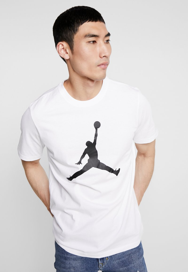 Jordan - JUMPMAN CREW - T-shirts print - white/black