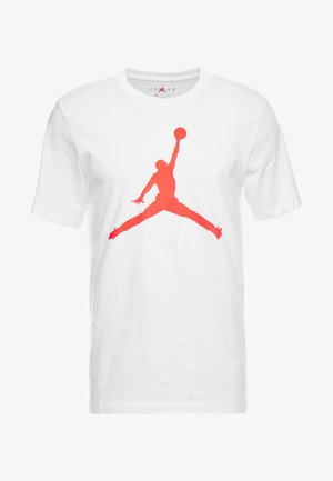 M J JM SS CREW - T-Shirt print - white/infrared