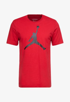 M J JM SS CREW - T-shirt print - gym red/black