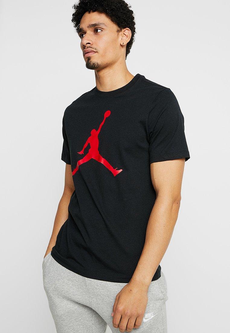 Jordan - JUMPMAN CREW - T-shirts print - black/gym red