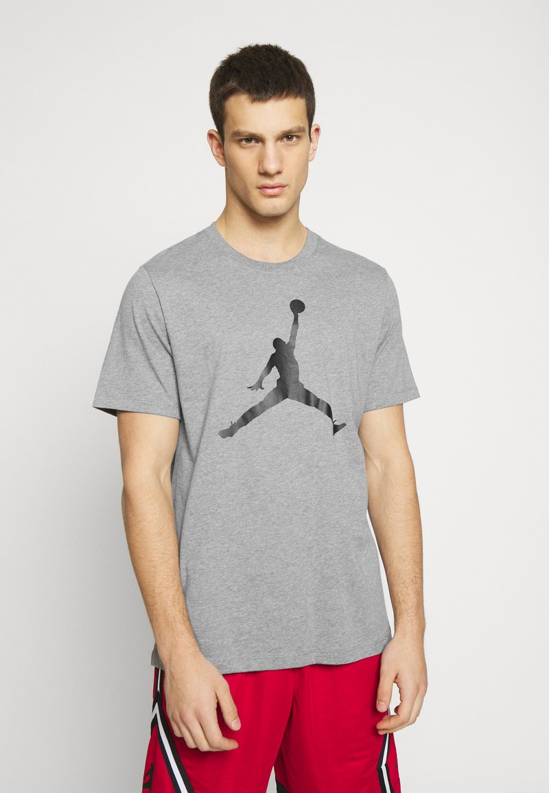 Jordan - M J JM SS CREW - Print T-shirt - carbon heather/black