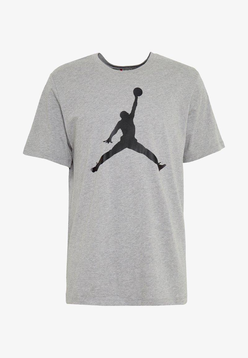Jordan M J JM SS CREW - T-shirts med print - carbon heather/black