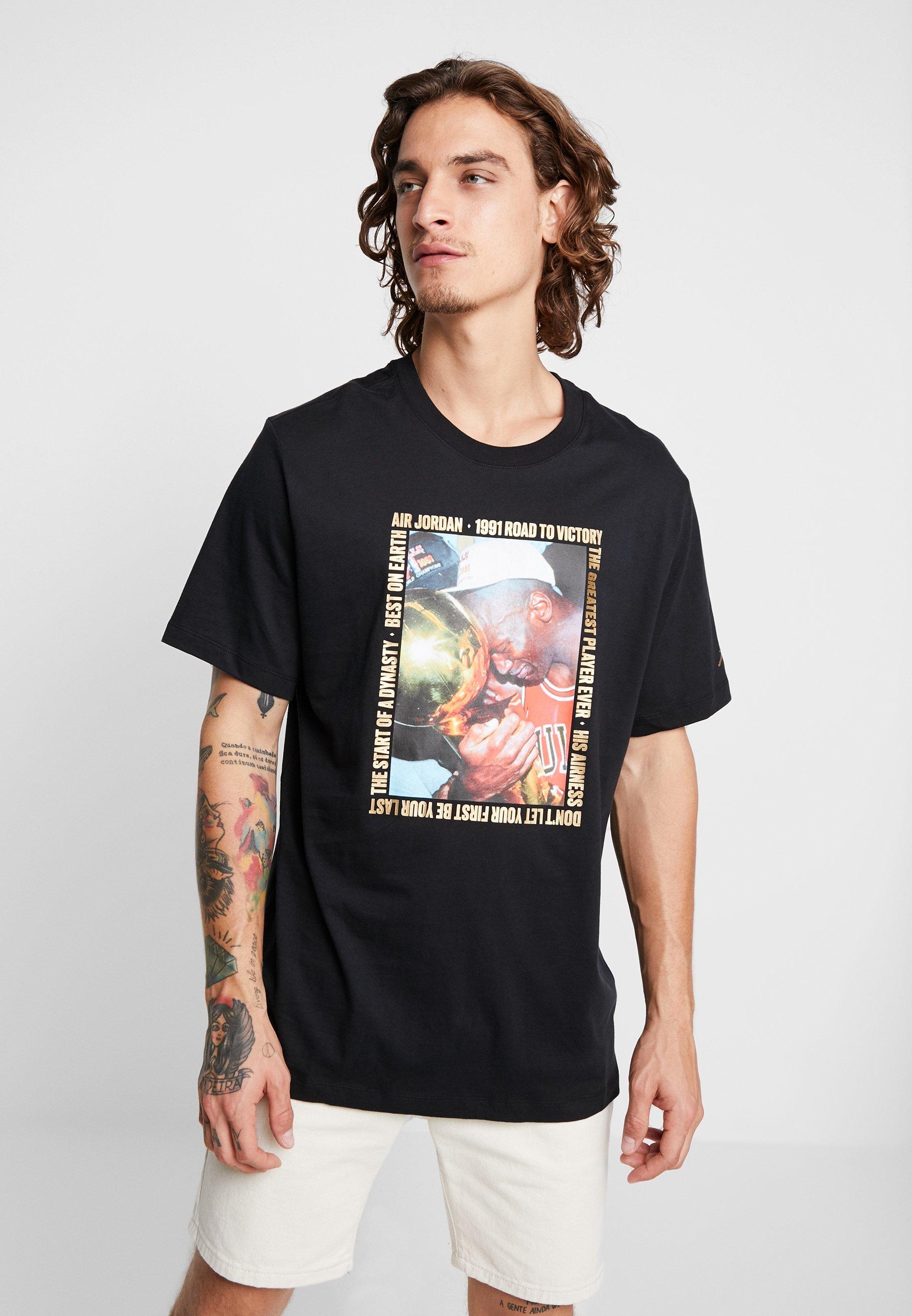 Jordan CREW - T-shirt z nadrukiem - black