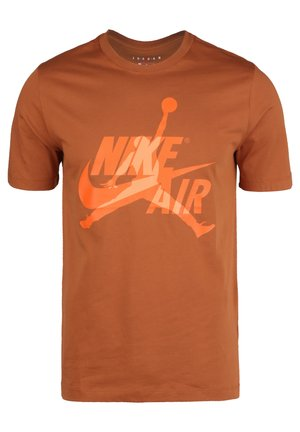 CLASSICS  CREW - T-Shirt print - dark russet / orange trance